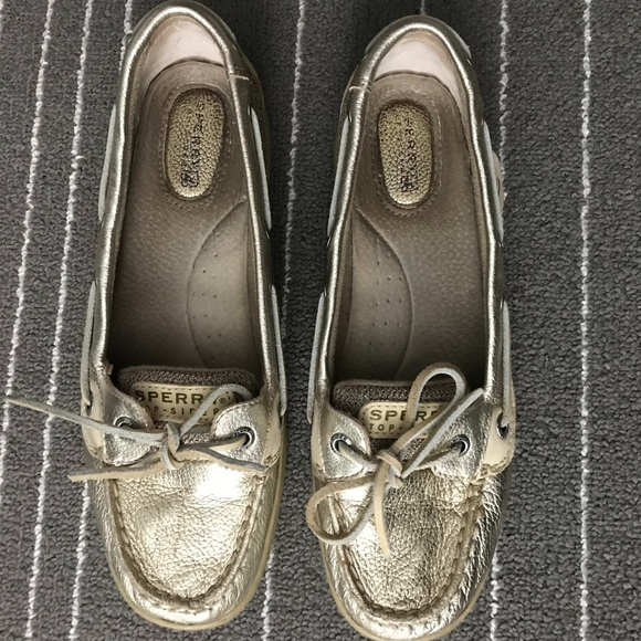 Sperry Metallic Gold Size 8 Boat Shoes